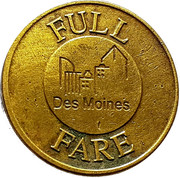 Full Fare - Des Moines Metropolitan Transit Authority (Des Moines, Iowa) – reverse