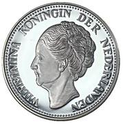 Replica - 1 Gulden Wilhelmina (1944) – obverse