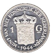 Replica - 1 Gulden Wilhelmina (1944) – reverse