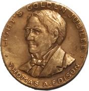 Medal - Thamas A. Edison (Light's Golden Jubilee) – obverse