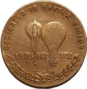 Medal - Thamas A. Edison (Light's Golden Jubilee) – reverse