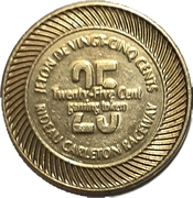 25 Cent Gaming Token - Rideau Carlton Raceway (Gloucester, ON) – reverse