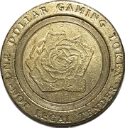 1 Dollar Gaming Token - Casino Windsor (Windsor, Ontario) – reverse