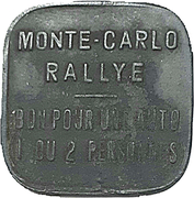 Token - Monte Carlo Rally (1 car 1 or 2 persons) – obverse