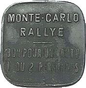 Token - Monte Carlo Rally (1 car 1 or 2 persons) – obverse