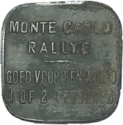Token - Monte Carlo Rally (1 car 1 or 2 persons) – reverse