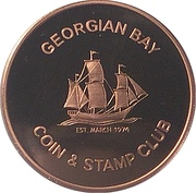 Token - Georgian Bay Coin & Stamp Club (Copper) – obverse