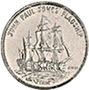 Token - Shell's Famous Facts and Faces Game (John Paul Jones' Flagship) – obverse