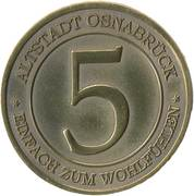 """Osnabrück Altstadt-Taler """"5"""" – obverse"""