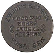 3 Dollars - Swede's Saloon (Yuma, Arizona) – obverse