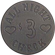 3 Dollars - Swede's Saloon (Yuma, Arizona) – reverse