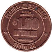 1 Dollar Car Wash Token - Peachtree Car wash (Hyattsville, Maryland) – obverse
