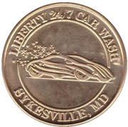 1 Dollar Car Wash Token - Liberty 24/7 Car wash (Sykesville, Maryland) – obverse