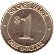 1 Dollar Car Wash Token - Liberty 24/7 Car wash (Sykesville, Maryland) – reverse