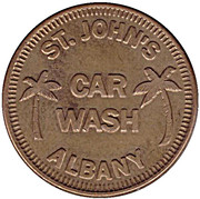 1 Dollar Car Wash Token - St. John's (Albany, Indiana) – obverse