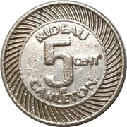 5 Cents - Rideau Carlton raceway (Gloucester, Ontario) – obverse