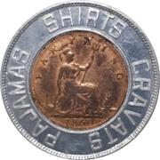 Encased Farthing - Forsyth Lucky Coin – reverse