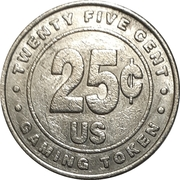 25 Cent Gaming Token - Casino Rouge et Noir – reverse