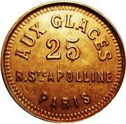 Monnaie de Singe - Aux Glaces (Paris) – obverse