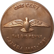 Token - The Big Penny 1967 – reverse