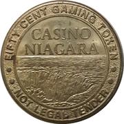 50 Cent Gaming Token - Casino Niagara (Ontario) – obverse