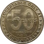 50 Cent Gaming Token - Casino Niagara (Ontario) – reverse