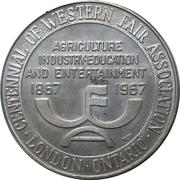 Medallion - Western Fair Centennial (London, ON) – obverse