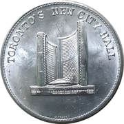 Medal - Toronto's New City Hall – obverse