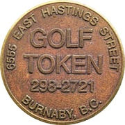 Golf Token - Hastings Golf Centre (Burnaby, BC) – obverse