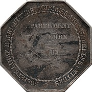 Token - Louis Philippe I (Société libre d'agriculture, sciences, arts et belles-lettres de l'Eure) – reverse