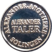 Alexander Taler - Alexander Apotheke (Solingen) – reverse