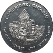 Token - Hal Rogers Kinsmen National Headquarters (Cambridge, Ontario) – reverse