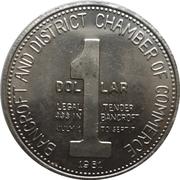 1 Dollar - Bancroft, Ontario – reverse