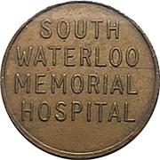 Parking Token - South Waterloo Memorial Hospital (Cambridge, Ontario) – obverse