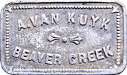 1 Quart Milk - A. Van Kuyk (Beaver Creek, British Columbia) – obverse