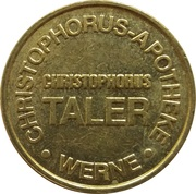 Christophorus Taler - Christophorus Apotheke (Werne) – reverse