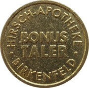Bonus Taler - Hirsch Apotheke (Birkenfeld) – reverse