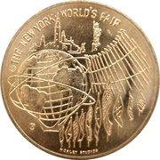 Medal - New York World's Fair – reverse