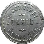1 Loaf of Bread - C. Schwindt Baker (Elmira, Ontario) – obverse