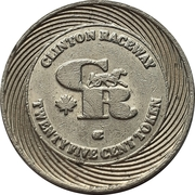 25 Cent Token - Clinton Raceway (Clinton, Ontario) – obverse