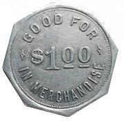 1 Dollar - Tieman & Edighoffer (Dashwood, Ontario) – reverse