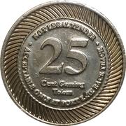 25 Cent Gaming Token - Fort Erie Racetrack – reverse