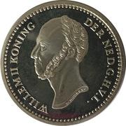 Replica - 5 Cents Willem II (1848) – obverse