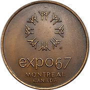 Token - Expo '67 Montreal (Ontario Pavillion) – reverse