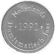 Royal Dutch Mint Set Token (Dutch Numismatisch Year 1992) – obverse