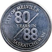 Token - Melville, Saskatchewan – reverse