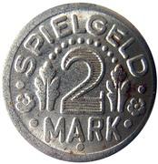2 Mark (Spielgeld; Globe) – reverse