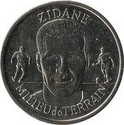Token - Federation Francaise de Football - Continent Equipe de France (Zidane) -  obverse
