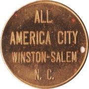 Medal - 75th Anniversary of the Chamber of Commerce (Winston-Salem, North Carolina) – reverse