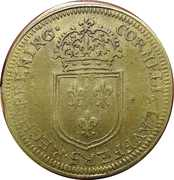 Tojen - Louis XIV (Cornelius Lauffers) – reverse